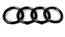 NEW 06-12 AUDI GLOSS BLACK FRONT GRILLE RINGS Badge Emblem S3 S4 S5 S6 S8 10.75""