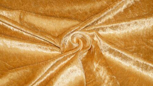 Miel De Oro Tejido De Terciopelo machacado material elástico 2-Way Brillo Vestido De Terciopelo
