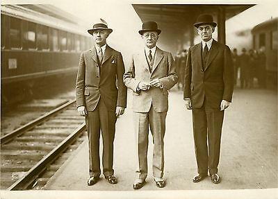 """""""experts Navals Des Usa (gare De Lyon 1932)"""" Photo Originale G.devred (agce Rol) CáLculo Cuidadoso Y Presupuesto Estricto"""