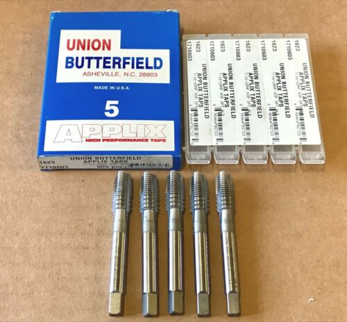 5 Union Butterfield 7//16-20NF Spiral Point Tap H3 High Speed Steel USA
