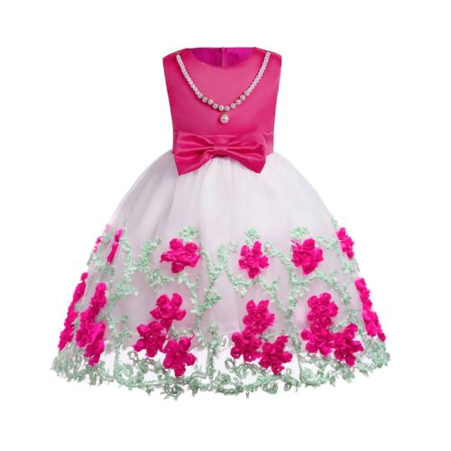 Flower Girl Dress Baby Wedding Bridesmaid Birthday Pageant Graduation ZG8