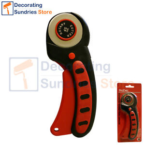 Details About Prodec Rotary Wallpaper Trimmer Cutter Vinyl Trimming Tool Free Spare Blade
