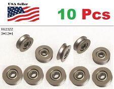 10 X V623zz 623vv Groove Guide Pulley Rail Ball Bearings Metal 03cm12mm4mm