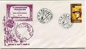 1963 X Exposicion Filatelica Sans Hostafrnchs Astrofiltelia Barcelona Espana Sat Rendre Les Choses Pratiques Pour Les Clients