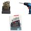 M42-HSS-8-High-Cobalt-Copper-Iron-Twist-Drill-Bit-For-Stainless-Metal-19pcs-Set miniatura 8