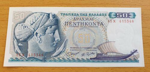 GREECE 50 Drachmai 1964 P195a UNC Banknote