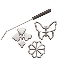 Fox Run Rosette & Timbale Set Scandinavian Cookies Biscuit Molds Iron Aluminum