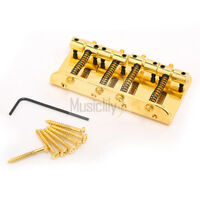 Gold Vintage 4 String Bass Guitar Bridge For Fender Jazz Bass Top Load Upgrade