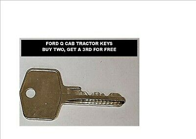 FORD TRACTOR Q CAB SPARE DOOR KEY GET A 3RD ONE FOR FREE!! BUY 2