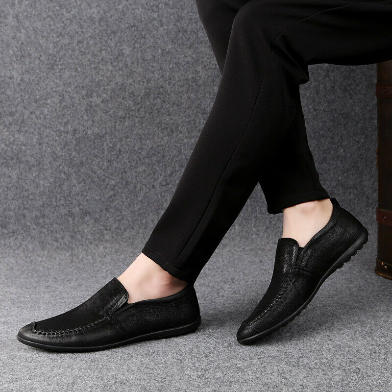 Loafers Gommino Leather Drive Moccasins Men Casual shoes Slip On Comfort Dress