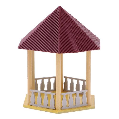 Historische Wert Architektur Red Roof Hexagon Pavillon Modell Park Layouts
