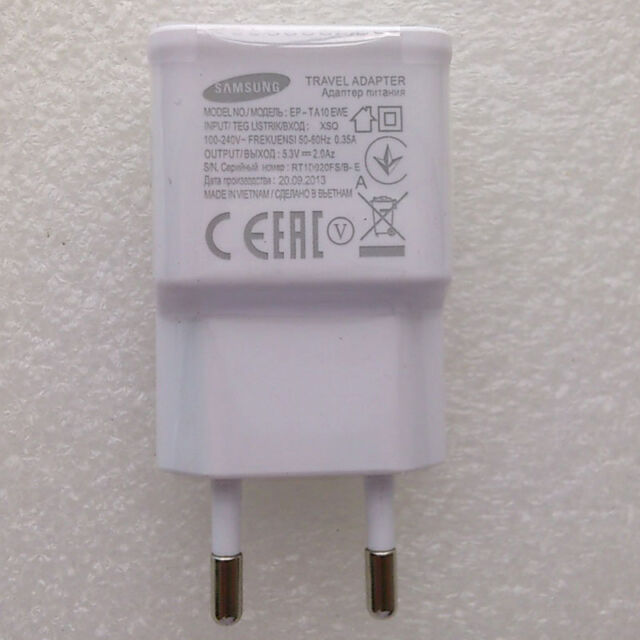 Original OEM EU Wall Home Charger Adapter For Samsung Galaxy S5 Note 3 III N9000
