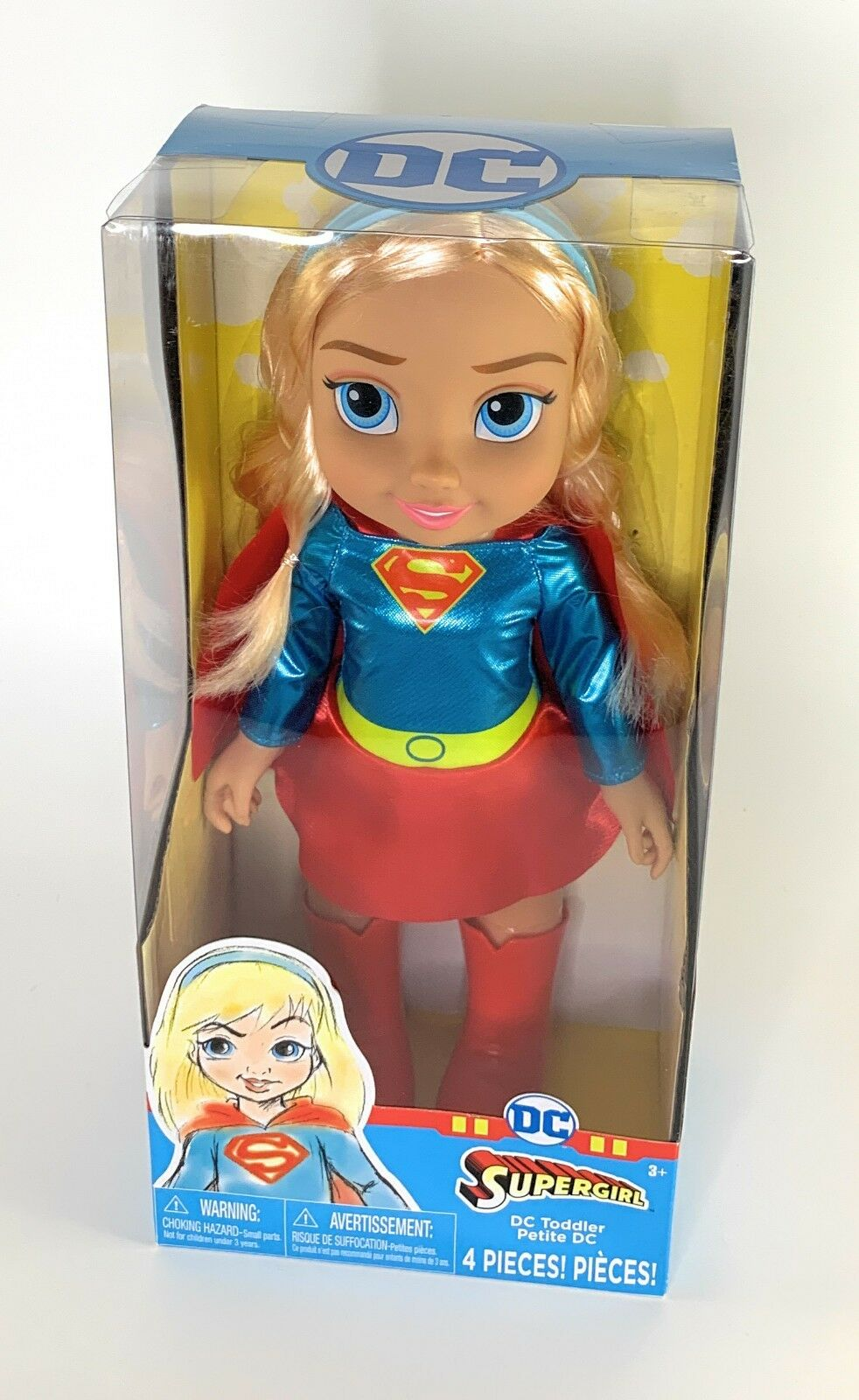 Supergirl Toddler Petite Doll Dc Super Hero Justice League Unlimited 15'' Sealed