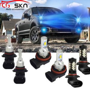 H11-9005-LED-Headlight-Hi-Low-Beam-Fog-Light-9145-for-Ford-F-150-2015-2019-8000K