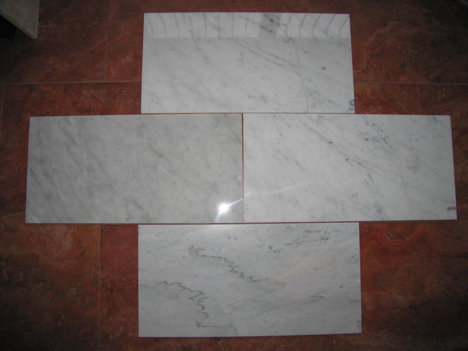 Naturstein Marmor Bianco Carrara CD in 61,0 x 30,5 x 1cm poliert Lagerware HH