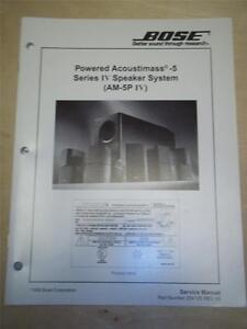 bose service manual acoustimass 5 series iv speaker system am 5p iv rh ebay ie