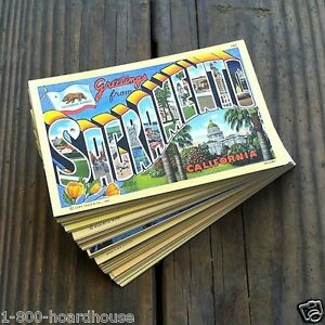 100-Vintage-Original-CALIFORNIA-LINEN-Postcards-Assorted-Set-1930s-1940s-Lot-NOS