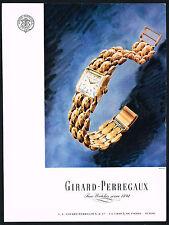 1940's Vintage 1947 Girard Perregaux Ladies Wrist Watch Mid Century Art Print AD