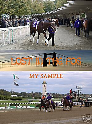 Horse Racing Breeders Cup Print Kentucky Derby print Art Lost In The Fog