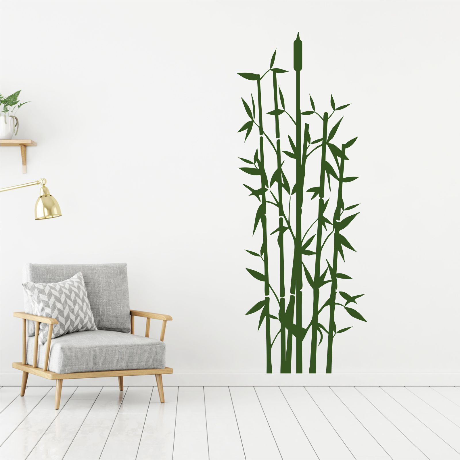 Wandtattoo wandsticker wandaufkleber flur badezimmer bambus gras wt024 ebay - Wandtattoo flur treppenhaus ...