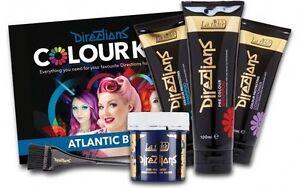 La-Riche-Directions-Farbe-Haarfaerbemittel-Beauty-Kosmetik-Set-Satz-Atlantik-Blau