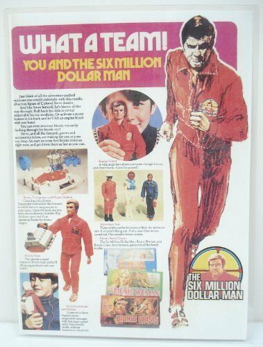 1973/76 Six Million Dollar Man - What A Team Product Sheet - Copy, Laminated