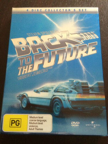 """1 of 1 - """"Back To The Future"""" 4 Disc Collector's Set, 3 Movies + Bonus Disc, PAL *GC*"""