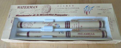 Stylo plume et bille Waterman Préambule Bicentenaire de la Révolution neuf