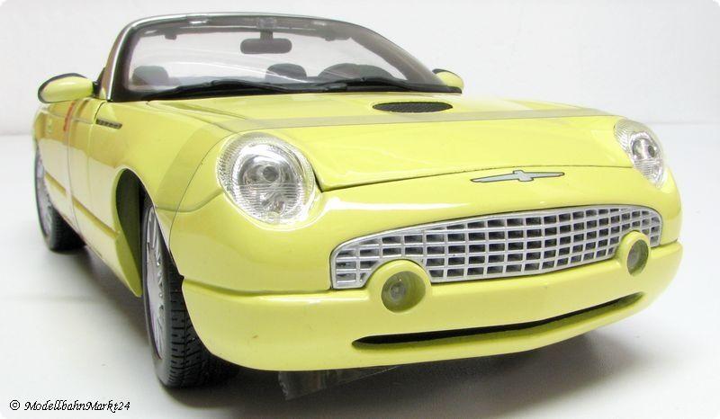 MAISTO thunderbird show show show car en jaune 1 18 356fd2