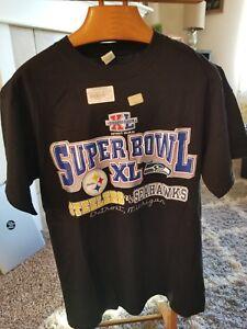 Image is loading Superbowl-XL-Seahawks-vs-Steelers-T-Shirt 34e455f99