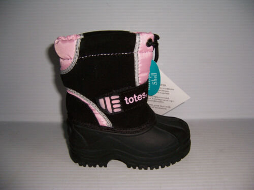 TOTES KIDS TIA PINK /& BLACK TODDLER GIRL/'S WATER PROOF WINTER BOOTS SIZE 5 NEW!