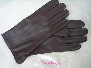 58280b8f9efbb Details zu Lederhandschuhe Herren Handschuhe Leder gefüttert Wolle Laimböck  Braun Laimbock