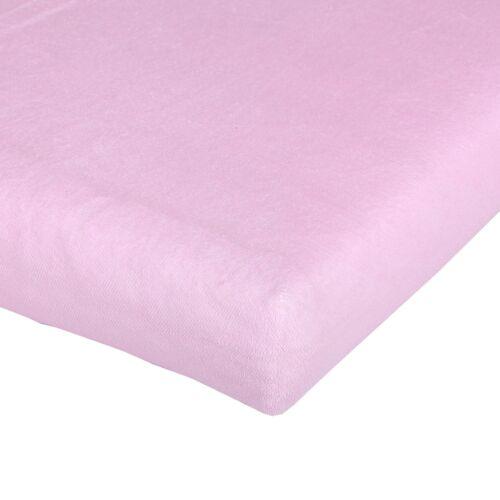 70x140 NEU Träumeland Spannbetttuch für Babymatratze Frottee rosa 60x120