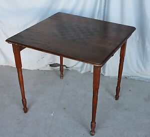 Image Is Loading Antique Oak Folding Leg Game Table