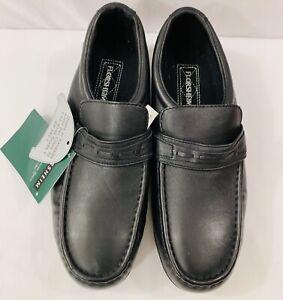 florsheim mens steel toe work casual slip on shoes black