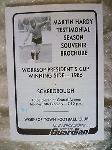 1986 Martin Hardy Testimonial Match WORKSOP TOWN v SCARBOROUGH 8 Feb - ilford, Essex, United Kingdom - 1986 Martin Hardy Testimonial Match WORKSOP TOWN v SCARBOROUGH 8 Feb - ilford, Essex, United Kingdom