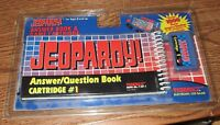 Tiger Electronics Lcd Jeopardy Handheld Game Book 1 & Cartridge Sealed Set