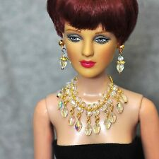 "handmade Tonner Tyler 16"" doll jewelry set crystal necklace+earring for Tonner"