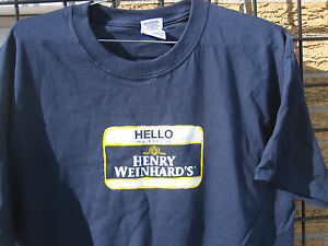 HENRY WEINHARD'S Beer T Shirt HELLO ( M L XL ) GOOD MADE EASY henry's weinhards