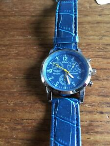 Details about Mens SHSHD SS Watch with Blue Face & Straps W684/10