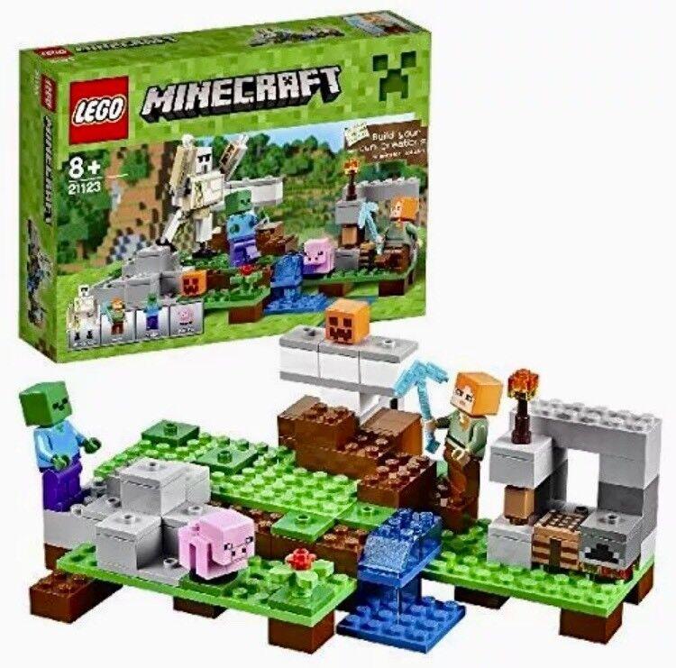 LEGO Minecraft Set 21123 il Golem di Ferro con Minifigure 5702015589826 NUOVO IN SCATOLA