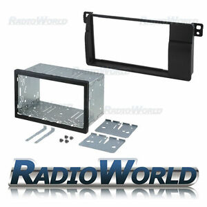 BMW-3-Series-E46-Double-Din-Fascia-Panel-Adapter-Plate-Trim-Cage-Fitting-Kit
