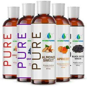 4-oz-Carrier-Oil-100-Pure-Cold-Pressed-Organic-For-Skin-Hair-Growth-Massage
