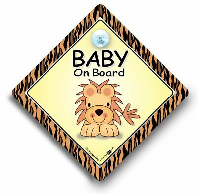 Grandson On Board Car Sign Baby On Board Sign Suction Cup Car Sign