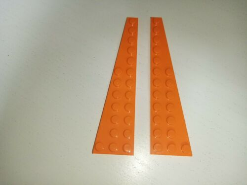 LEGO 47397 47398 WING WEDGE PLATE 3x12 ORANGE QTY x 1 PAIR BRAND NEW
