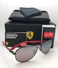 Ray Ban Authentic Ferrari Liteforce Blackpolar Silver Chromance Rb4195m F602h2