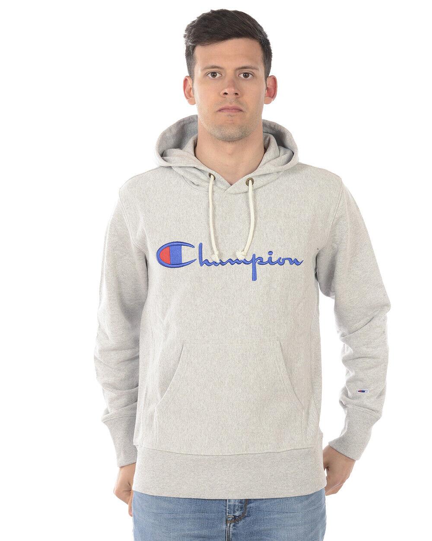 Champion Sweatshirt Hoodie Cotton Man Grey 210967 EM004 Sz. L PUT OFFER