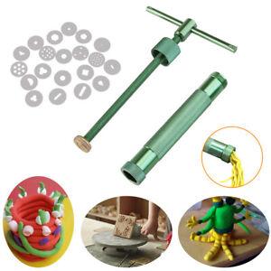 20-Discs-Polymer-Clay-Fimo-Extruder-Craft-Gun-Sculpey-Sculpting-Sugarcraft-Tools
