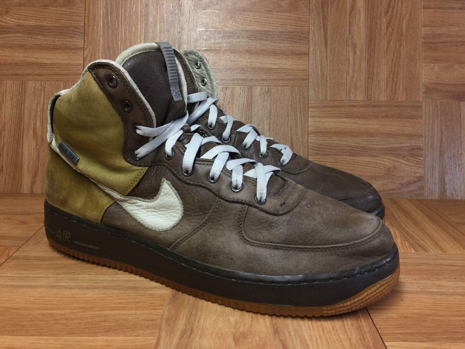 RARE Nike Air Force 1 High N2WiNTeR Baroque Brown Net Spani Moss 13 311900-211