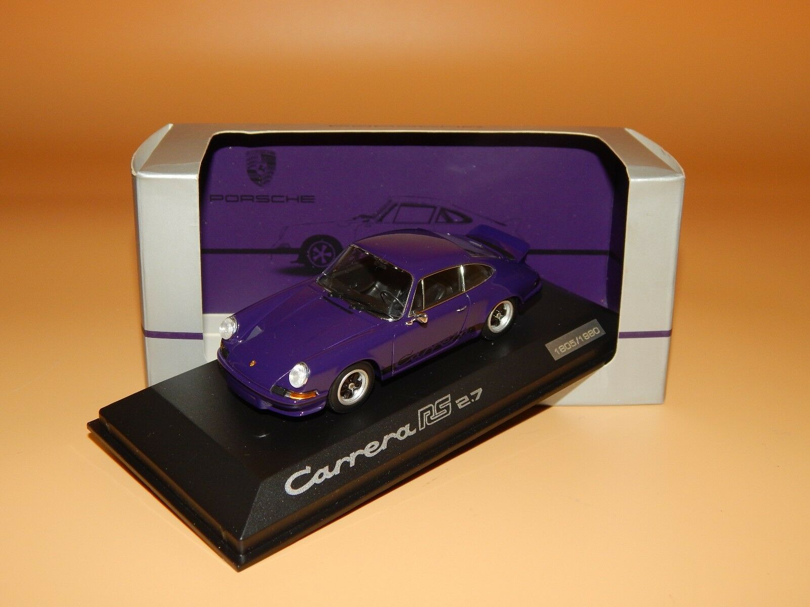 Porsche 911 Carrera Carrera Carrera RS 2.7 1980 Violet PORSCHE Dealers-Box PMA-Minichamps 1 43 Neuf dans sa boîte c39256